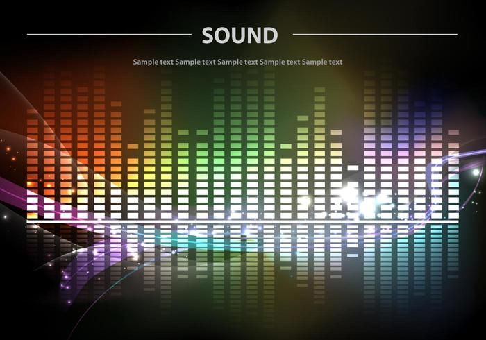 Sound Bars Background Colorful Vector