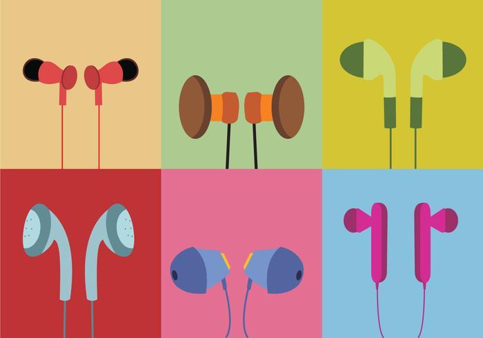 Various Ear Buds Vector
