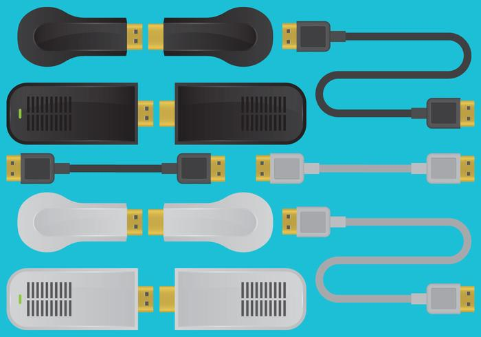 HDMI Devices And Cable Vectors