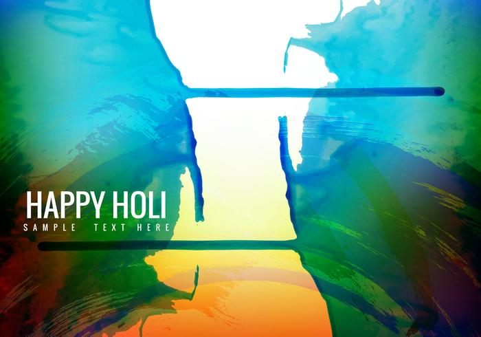 Free Colorful Holi Background Vector