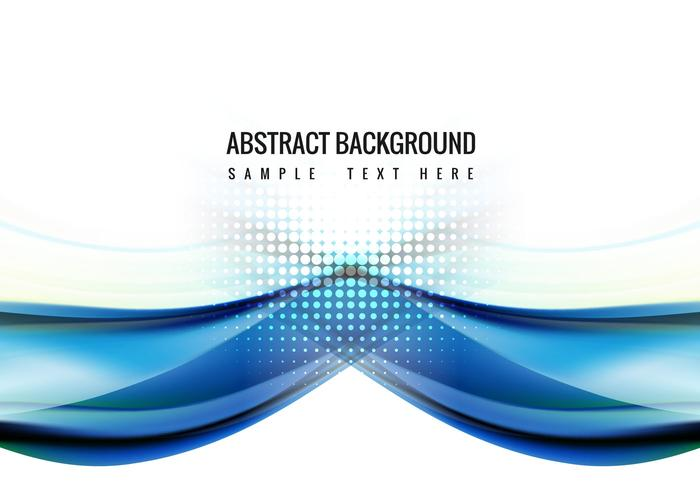 Free Blue Wave Vector Background
