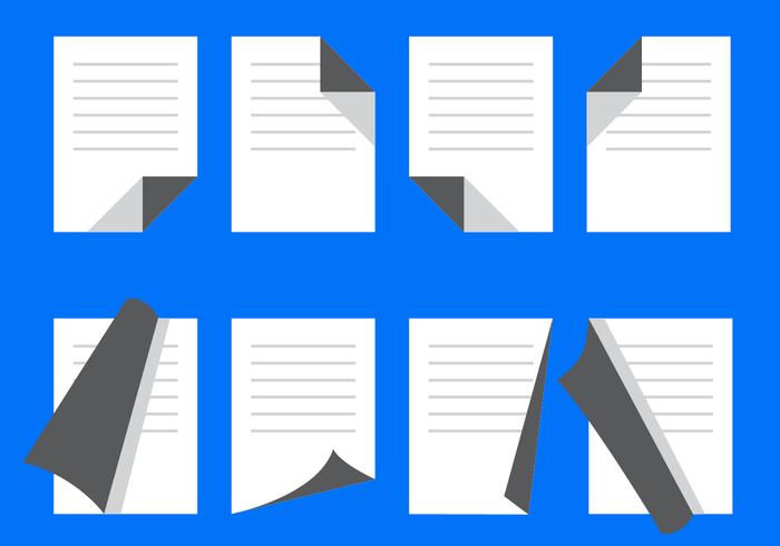 Libre plana Page Flip Vector