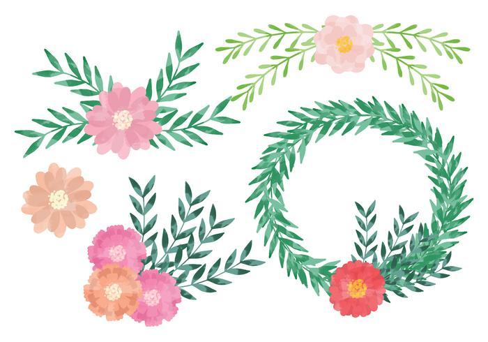 Vector Watercolor Wreaths