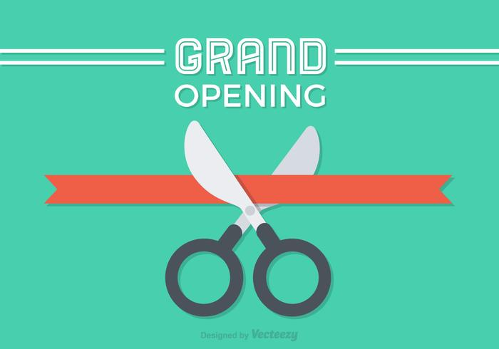 Free Flat Ribbon Cutting Vector Design