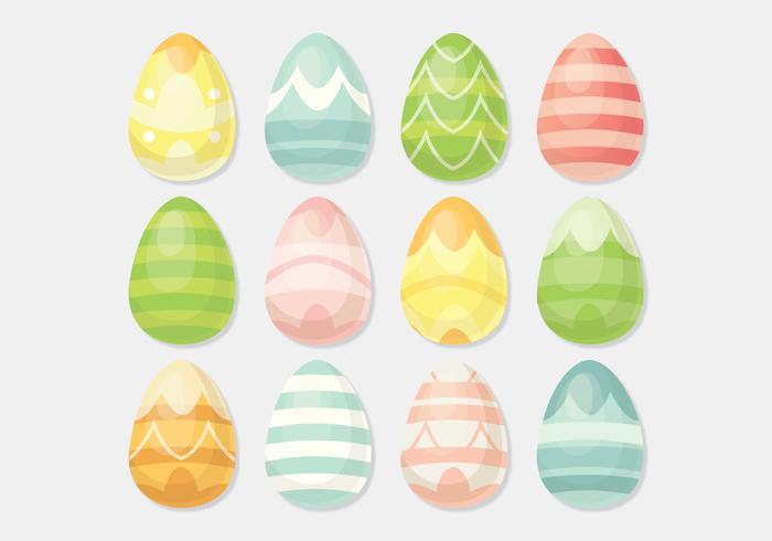 Oeufs de Pâques vectoriels