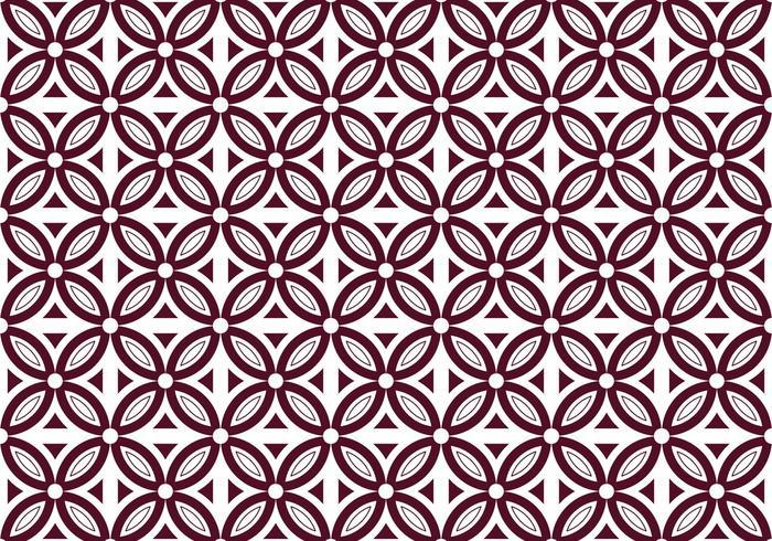 Free Batik Pattern Vector #3