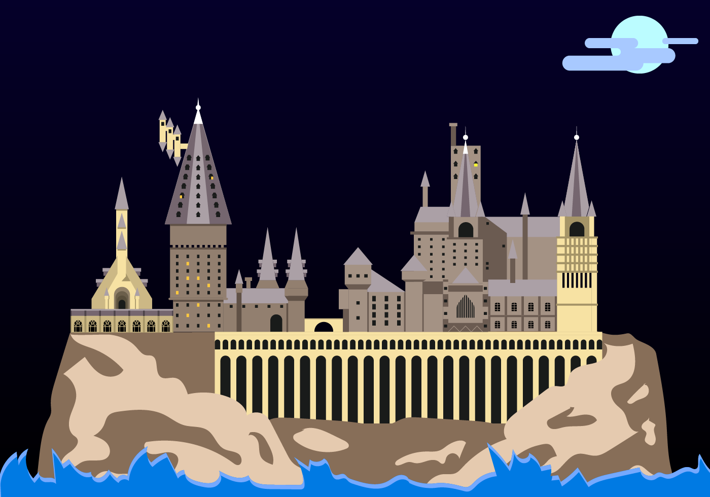 Free hogwarts vector download free vector art stock Design a castle online