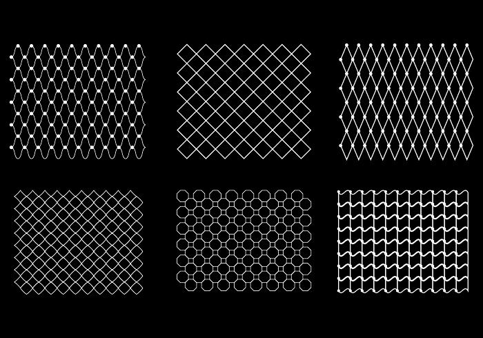 Free Fish Net Pattern Vector