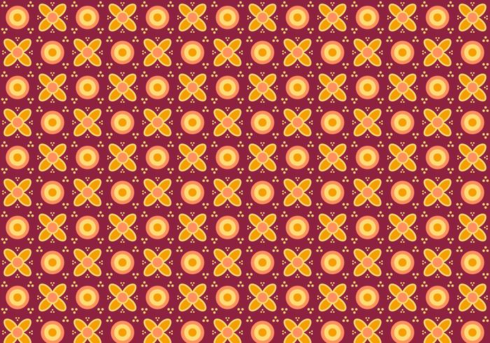 Free Batik Pattern Vector #1