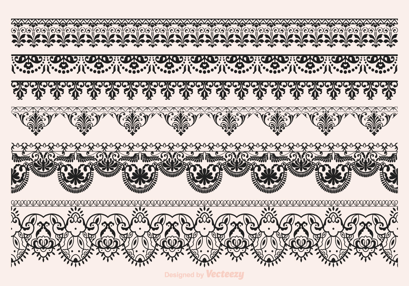 Vector Lace Vector Borders Download Free Vector Art