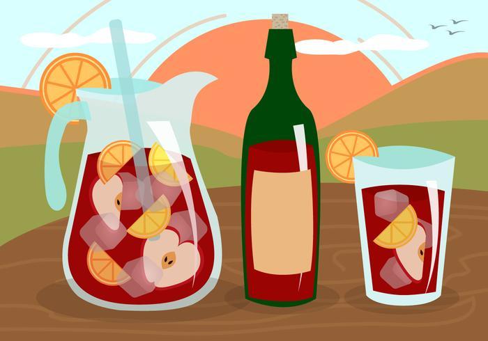 Sangria Wine Fruit Drink Spain Vector