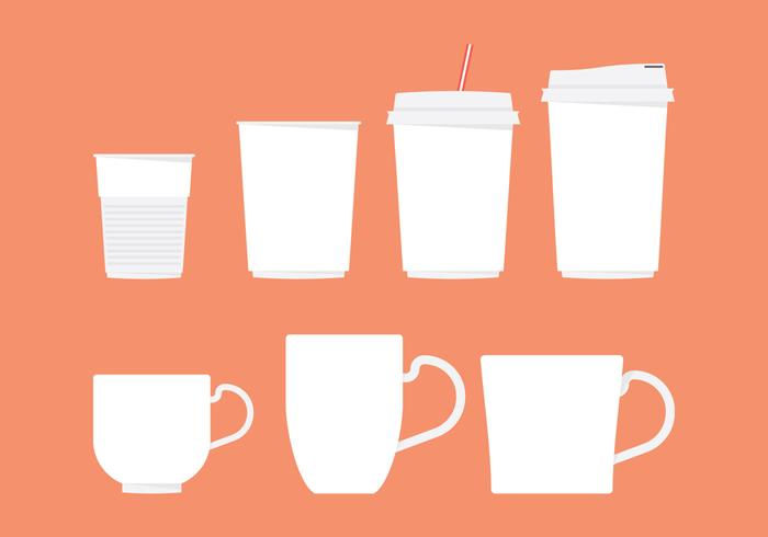 Coffee Sleeve And Cup Vectors