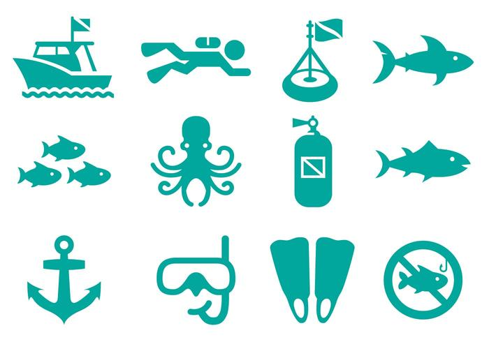 Dive Flat Icon Vector
