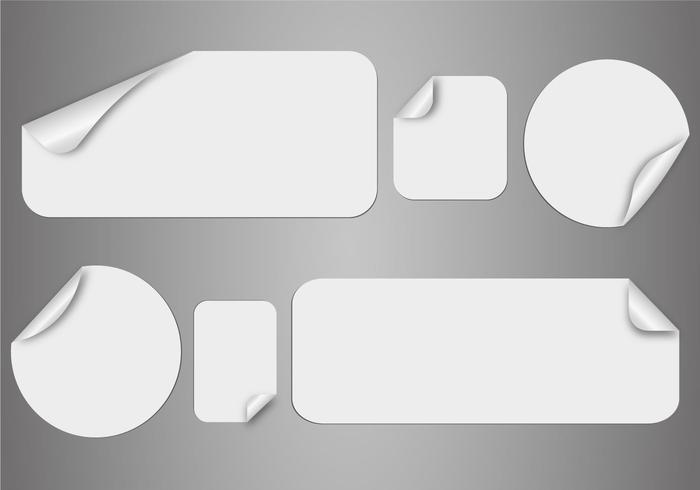 Free White Stickers Vector
