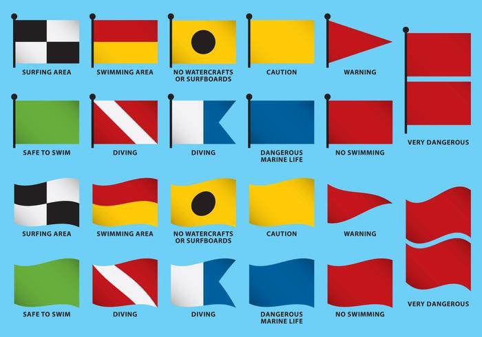 Strand Flaggvektorer