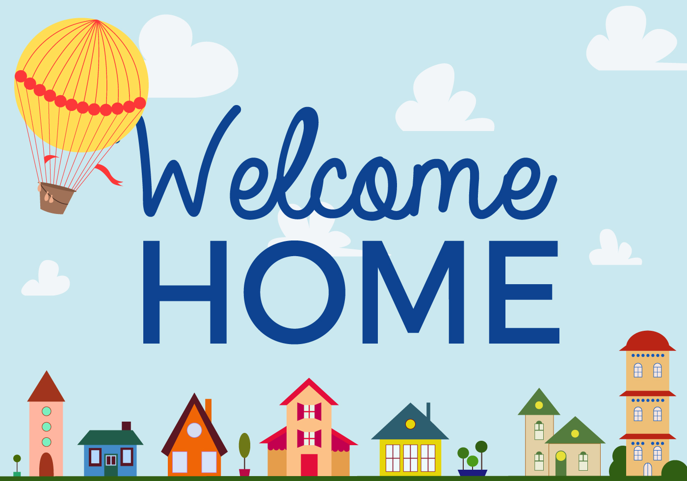 free welcome home vector download free vector art stock