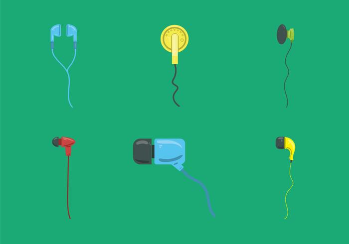 Free Ear Buds Vector Illustration