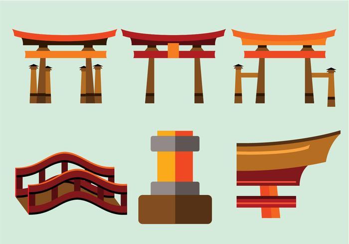 vettore di torii