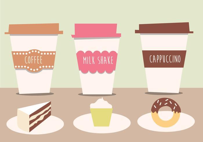 Cafe kostenlos vektor