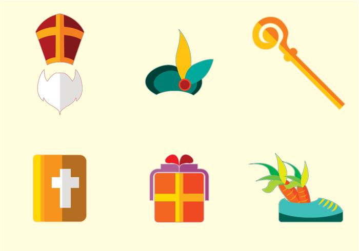 Sinterklaas pictogram vector