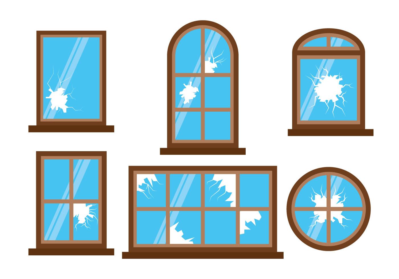 Broken window vector download free vector art stock for Window design vector