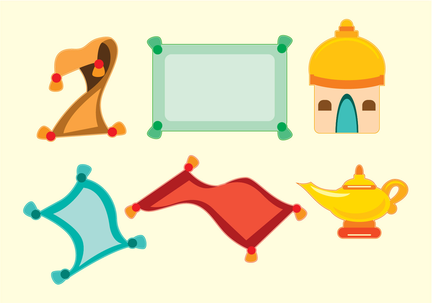 magic lamp free vector art 5966 free downloads