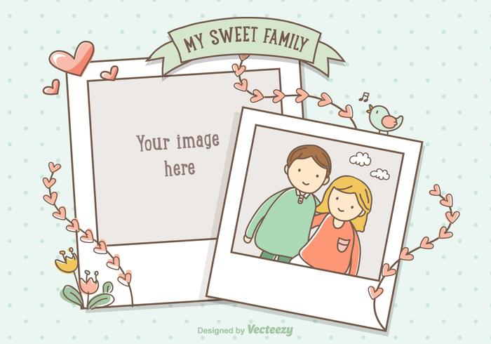 Collage de photos dessinées vectoriel