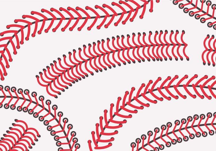 Baseball Laces Vector