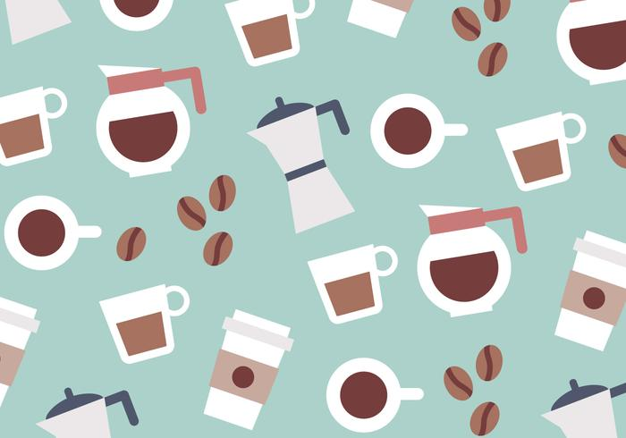Coffee Colorful Pattern Vector