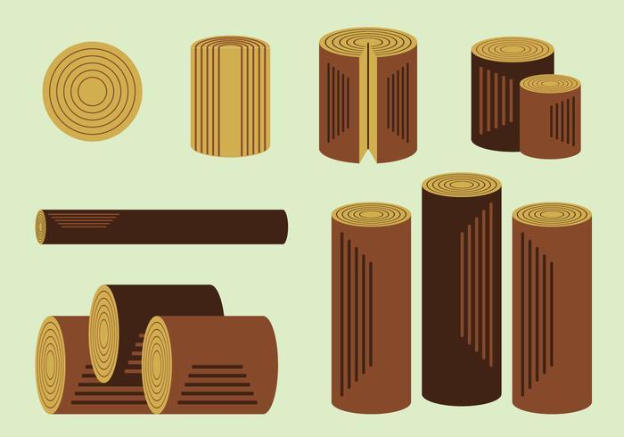 Gratis Hout Logs Vector Pack
