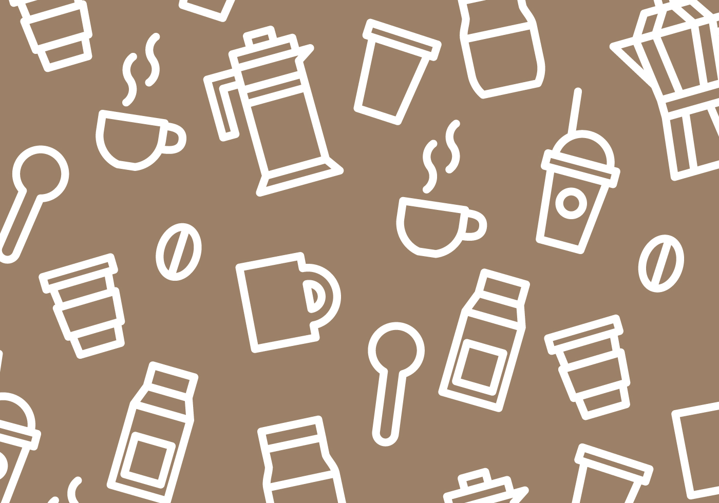 Coffee Pattern Vector Download Free Vector Art Stock