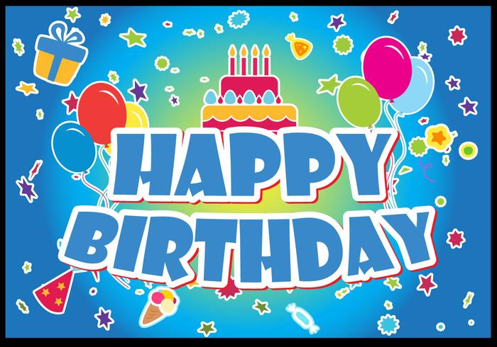 Happy Birthday Vector Set