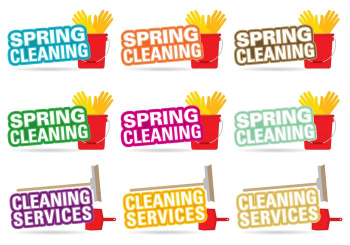 Spring Cleaning Title Vectors