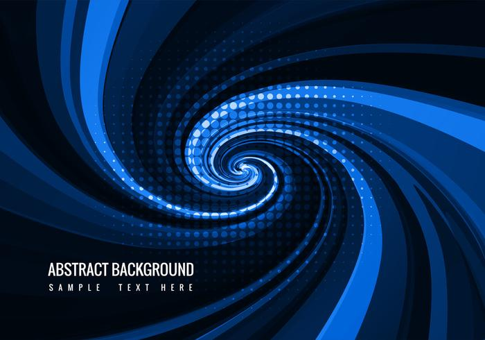 Free Blue Swirl Vector Background