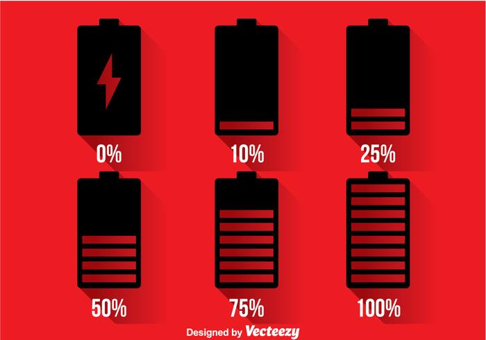 Phone Battery Indicator Icons vector