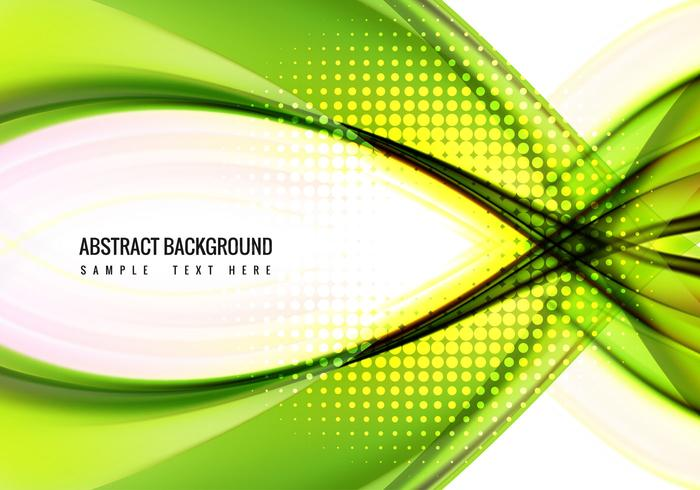 Free Vector Green wave Background