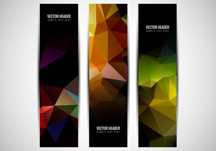 Free Vector Colorful Polygon Header