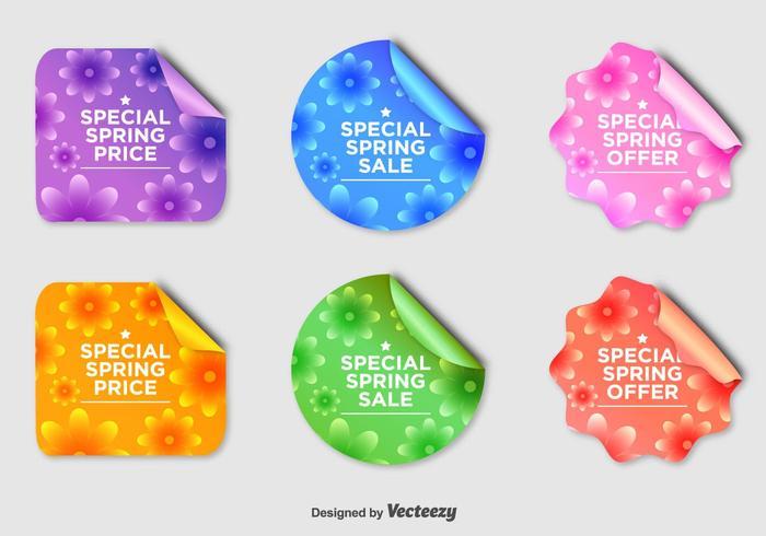 Floral Seasonal Sale Badges