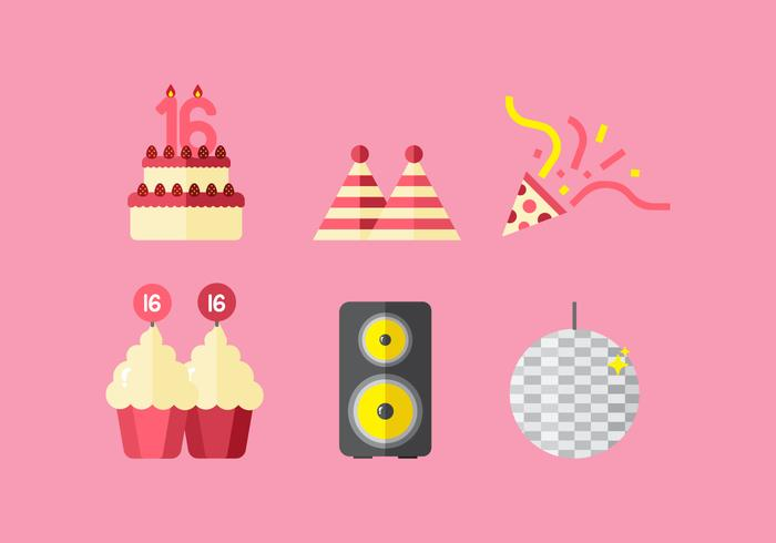 Vector Sweet 16 Icons