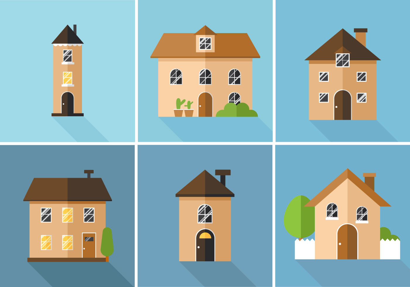 Line Art House Vector : Vector houses download free art stock graphics