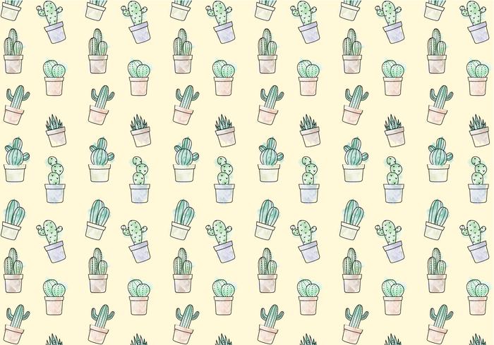 Free Cactus Pattern Vector