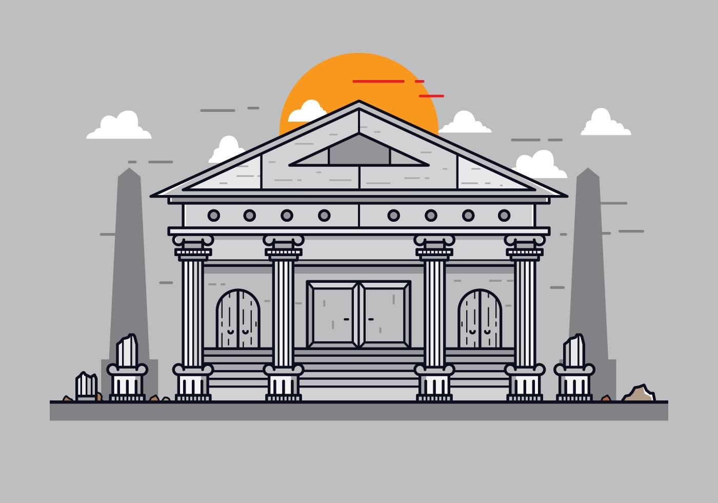 roman building vector download free vector art stock
