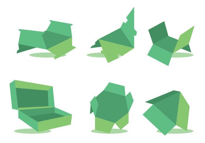 Die Cut Vector Set Green