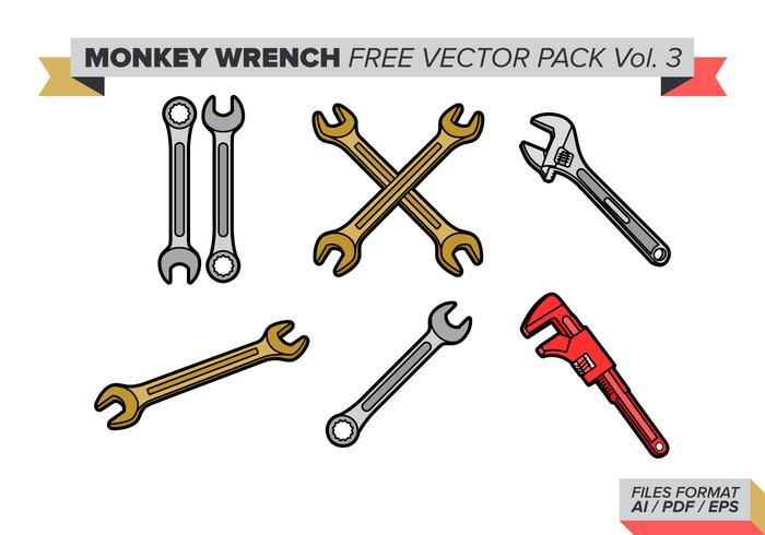 Monkey Wrench Free Vector Pack Vol. 3