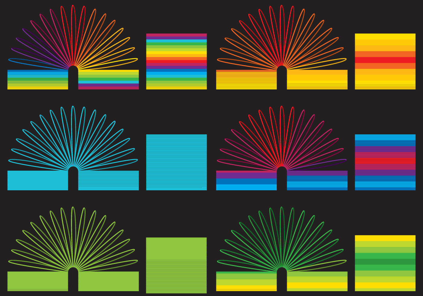 Colorful Slinky Toys Download Free Vector Art Stock