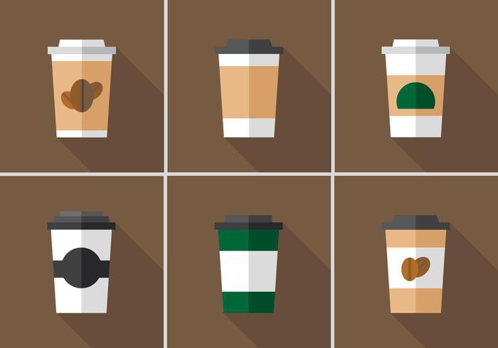 Manchon de café vecteur