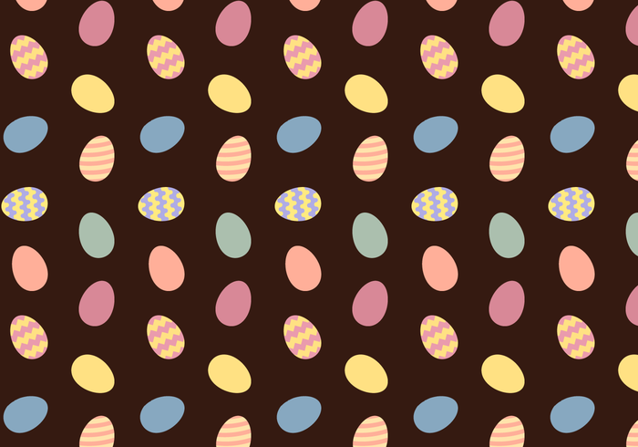 Free Easter Eggs Pattern Vector