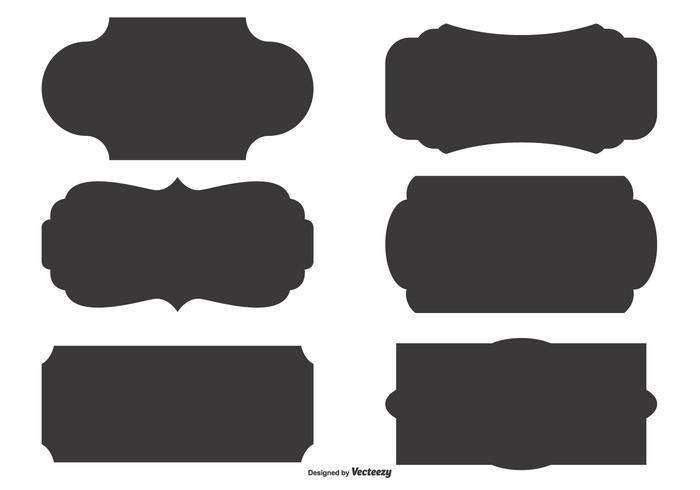 Vector Label Shape Set - Download Free Vector Art, Stock ...