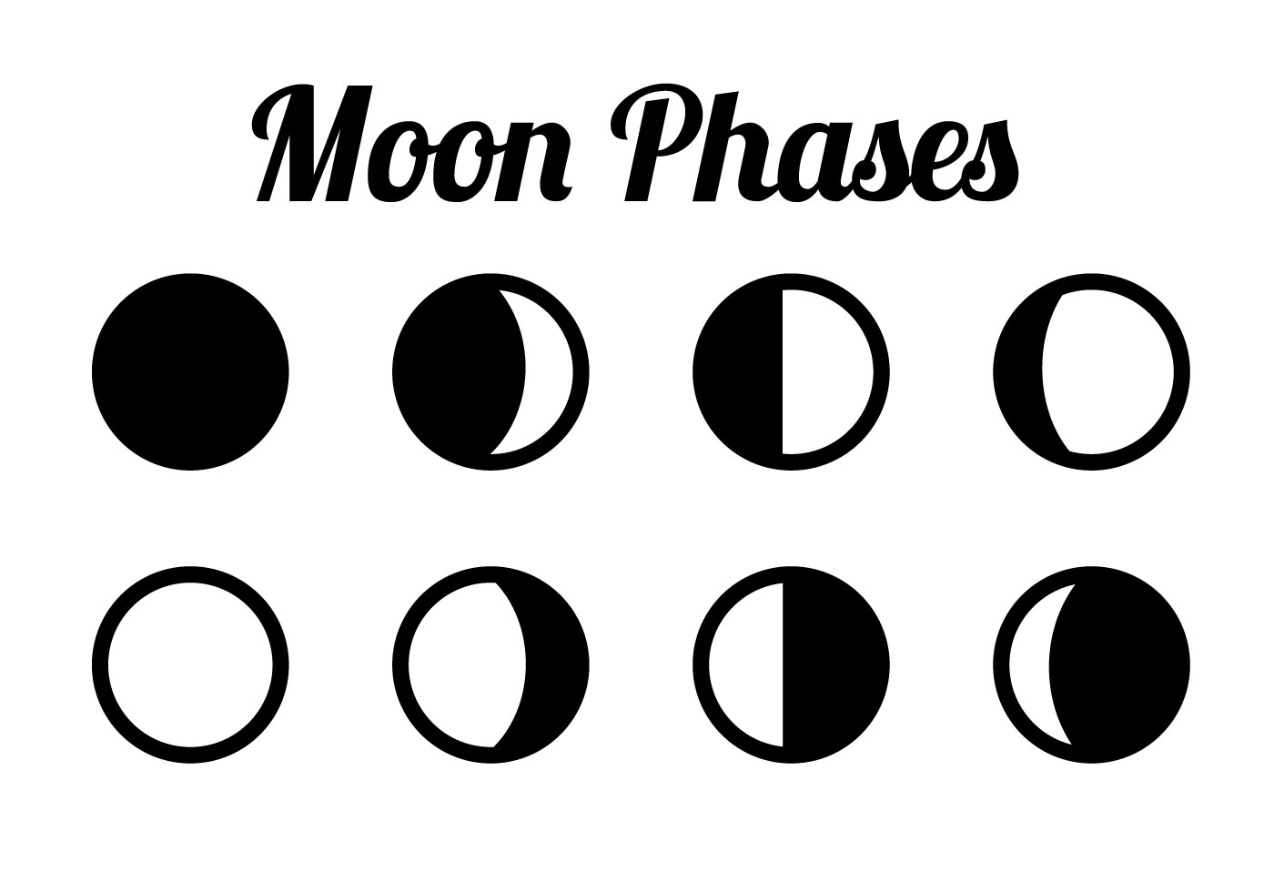 Free Moon Phases Vector - Download Free Vector Art, Stock Graphics ...