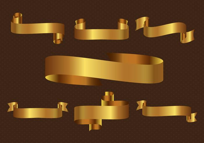 Gratis Gold Ribbon Vector